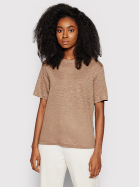 Samsøe Samsøe Samsøe Samsøe T-shirt Doretta F20300138 Smeđa Relaxed Fit