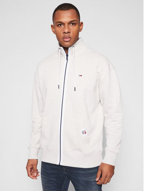 Tommy Jeans Tommy Jeans Mikina Solid Track DM0DM10704 Šedá Relaxed Fit