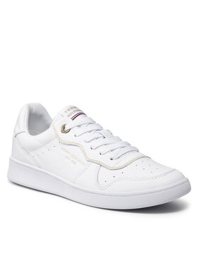 Tommy Hilfiger Tommy Hilfiger Sneakersy White Elevated Court Sneaker FW0FW06015 Biela
