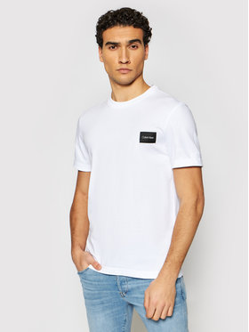 Calvin Klein Calvin Klein Póló Turn-Up Logo K10K107281 Fehér Regular Fit