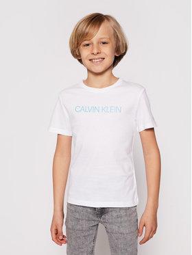 Calvin Klein Jeans Calvin Klein Jeans Marškinėliai Institutional IB0IB00347 Balta Regular Fit