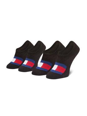Tommy Hilfiger Tommy Hilfiger Súprava 2 párov krátkych pánskych ponožiek 100002662 Čierna