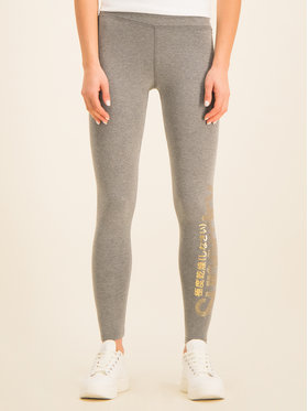 Superdry Superdry Legginsy Core W7000040A Szary Regular Fit