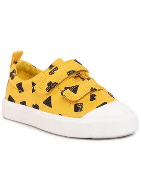 Clarks Clarks Sneakers aus Stoff City FlareLo T Gelb