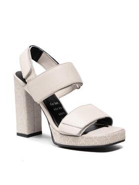 Bronx Bronx Sandále 84922-GE Biela