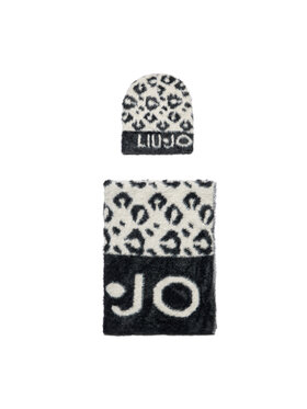 Liu Jo Liu Jo Ensemble bonnet + écharpe Set Maglia Jacquard 3F1028 M0300 Noir