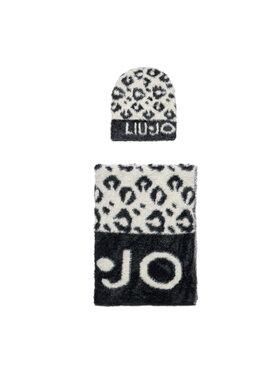 Liu Jo Liu Jo Комплект шал и шапка Set Maglia Jacquard 3F1028 M0300 Черен