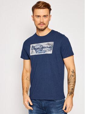 Pepe Jeans Pepe Jeans T-Shirt Almos PM507446 Tmavomodrá Regular Fit
