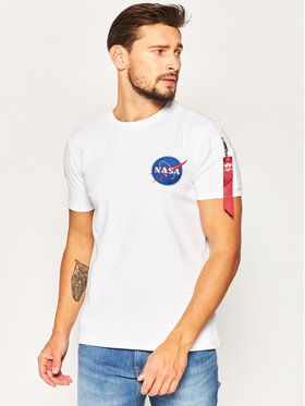 Alpha Industries Alpha Industries T-Shirt Nasa Heavy 188502 Biały Regular Fit