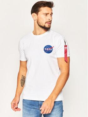 Alpha Industries Alpha Industries T-shirt Nasa Heavy 188502 Blanc Regular Fit