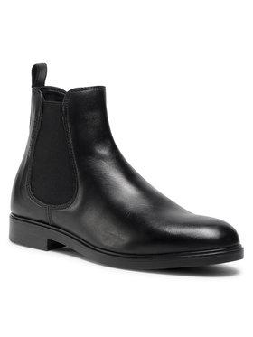 Marc O'Polo Marc O'Polo Členková obuv s elastickým prvkom 007 16045001 153 Čierna
