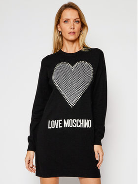 LOVE MOSCHINO LOVE MOSCHINO Džemper haljina WS37R11X 1264 Crna Regular Fit
