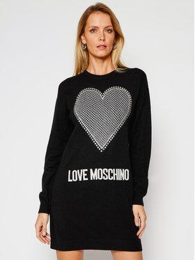 LOVE MOSCHINO LOVE MOSCHINO Kötött ruha WS37R11X 1264 Fekete Regular Fit