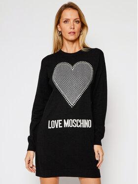 LOVE MOSCHINO LOVE MOSCHINO Sukienka dzianinowa WS37R11X 1264 Czarny Regular Fit