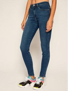 Wrangler Wrangler Skinny Fit džínsy High Rise W27HVQX8E Modrá Skinny Fit