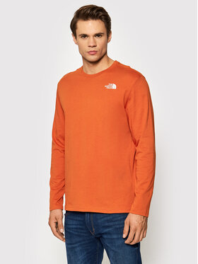 The North Face The North Face Longsleeve Red Box NF0A493L Pomarańczowy Regular Fit