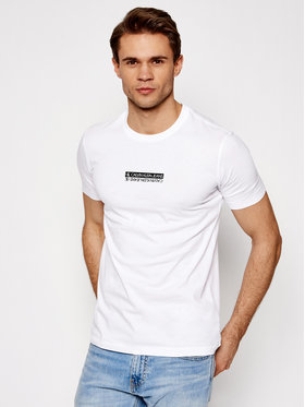 Calvin Klein Jeans Calvin Klein Jeans Marškinėliai J30J317063 Balta Regular Fit