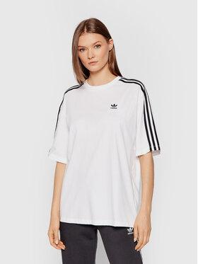 adidas adidas T-Shirt adicolor Classics H37796 Bílá Oversize