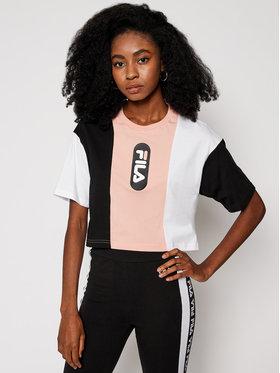 Fila Fila T-Shirt Basma Blocked Tee 687943 Barevná Cropped Fit