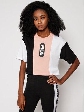Fila Fila T-Shirt Basma Blocked Tee 687943 Kolorowy Cropped Fit