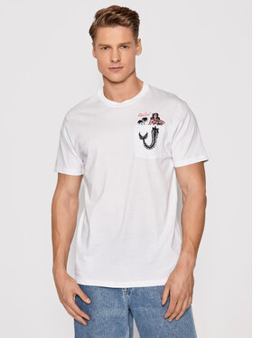 Rip Curl Rip Curl T-shirt In Da Pocket CTESZ5 Bianco Standard Fit