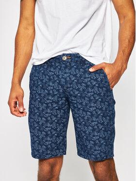 Pepe Jeans Pepe Jeans Šortky z materiálu Blackburn Short Yarrow PM800769 Tmavomodrá Slim Fit