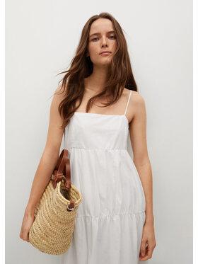 Mango Mango Sukienka letnia Ceci 87068632 Biały Regular Fit