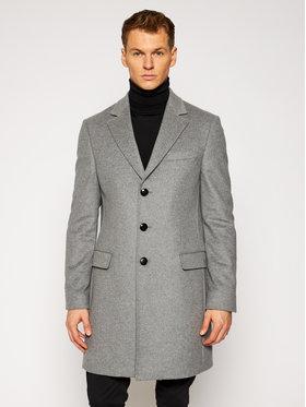 Tommy Hilfiger Tailored Tommy Hilfiger Tailored Płaszcz przejściowy Wool Blend TT0TT08117 Szary Regular Fit