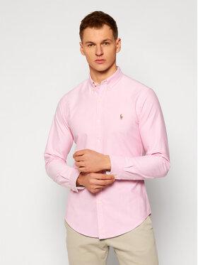 Polo Ralph Lauren Polo Ralph Lauren Marškiniai Slbdppcspt 710755876002 Rožinė Slim Fit