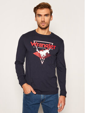 Wrangler Wrangler Marškinėliai ilgomis rankovėmis Modern Americana W7G0D3114 Tamsiai mėlyna Regular Fit