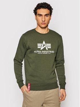 Alpha Industries Alpha Industries Sweatshirt Basic Sweater 178302 Vert Regular Fit