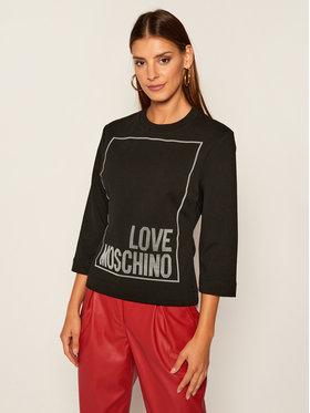 LOVE MOSCHINO LOVE MOSCHINO Felpa W637104E 2182 Nero Regular Fit
