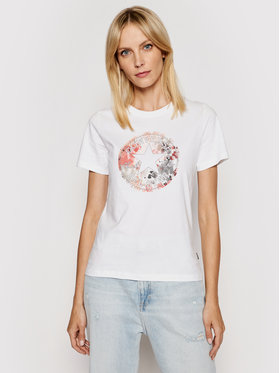 Converse Converse T-shirt Festival Print Chuck Patch Infill 10022176-A01 Bianco Standard Fit