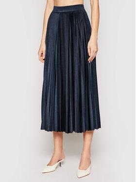 Marella Marella Plisovaná sukňa Trincea 37710211 Tmavomodrá Regular Fit