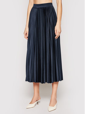 Marella Marella Spódnica plisowana Trincea 37710211 Granatowy Regular Fit