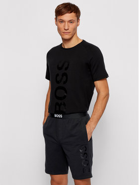 Boss Boss Pantaloni scurți sport Identity 50449829 Negru Regular Fit