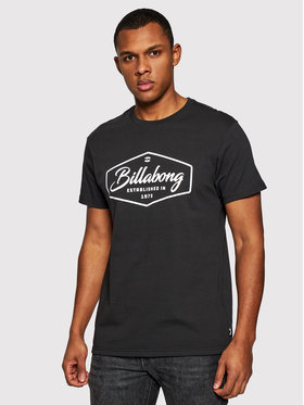 Billabong Billabong T-Shirt Tradmark U1SS53BIF0 Czarny Regular Fit