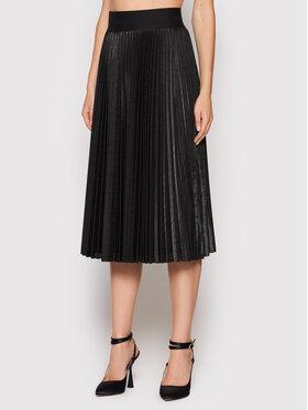 Liu Jo Liu Jo Plesirana suknja WF1390 J4032 Crna Regular Fit