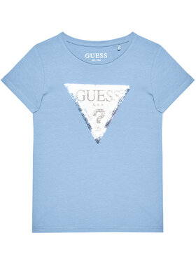 Guess Guess T-Shirt K1RI19 K6YW1 Modrá Regular Fit