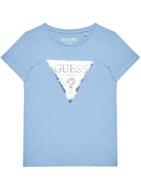 Guess Guess Tričko K1RI19 K6YW1 Modrá Regular Fit