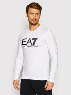 EA7 Emporio Armani EA7 Emporio Armani Longsleeve 6KPT64 PJ03Z 1100 Biały Regular Fit