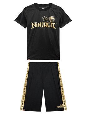 LEGO Wear LEGO Wear Komplet t-shirt i szorty sportowe 12010228 Czarny Regular Fit