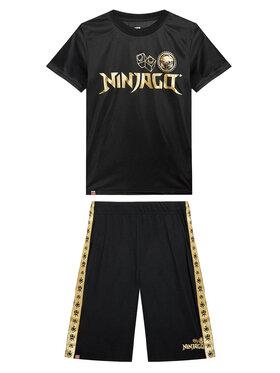 LEGO Wear LEGO Wear Set tricou și pantaloni scurți sport 12010228 Negru Regular Fit