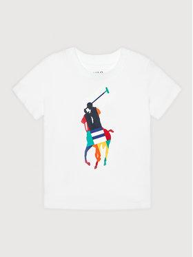 Polo Ralph Lauren Polo Ralph Lauren Marškinėliai Ss Cn 321844817001 Balta Regular Fit