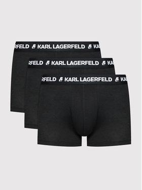 KARL LAGERFELD KARL LAGERFELD 3 pár boxer Logo 211M2102 Fekete