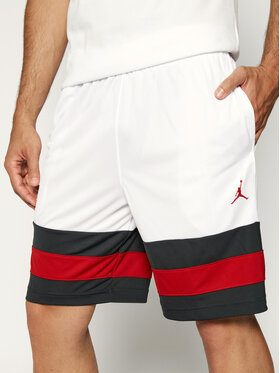 Nike Nike Sportovní kraťasy Jordan Jumpman Basketball CD4937 Bílá Loose Fit