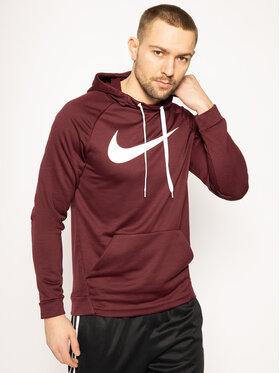 NIKE NIKE Sweatshirt Swoosh 885818 Dunkelrot Regular Fit