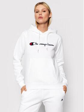 Champion Champion Pulóver Script Logo 114461 Fehér Regular Fit