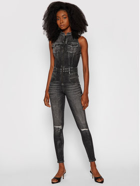 Guess Guess Overall Denim W1YD83 D4EO1 Schwarz Slim Fit
