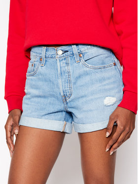 Levi's® Levi's® Jeansshorts 501® Rolled 29961-0020 Blau Regular Fit